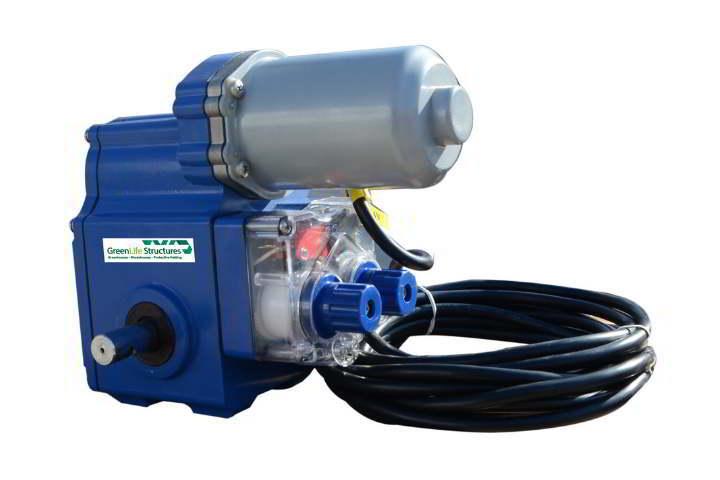 greenlife structures greenhouse gear motors- 24V auto retractable screen motor
