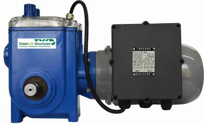 greenlife structures greenhouse gear motors- single phase auto gullwing motor