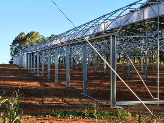 GreenLife Structures' all steel commercial greenhouse